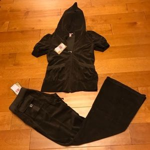 Juicy Couture grant terry hoodie & pockets pant S